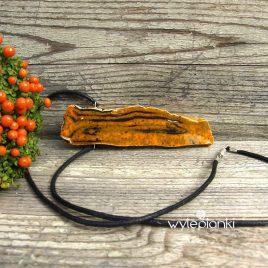 Naszyjnik ceramiczny tygrysi IV – Unikat z krótkiej serii