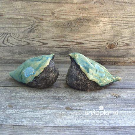 Turkusowe ptaszki ceramiczne