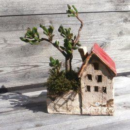 maly domek ceramiczny stara kamienica II