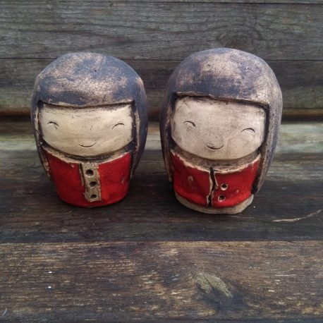 ceramiczne laleczki kokeshi