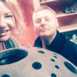 ceramiczna kula ogrodowa