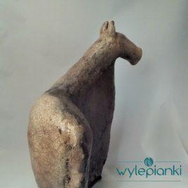 Rzeźba ceramiczna raku Koń handmade wylepianki