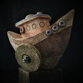 Statek ceramiczny na kadzidełka