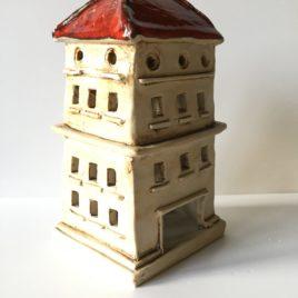 Domek ceramiczny na świeczkę