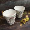 kubek ceramiczny domki
