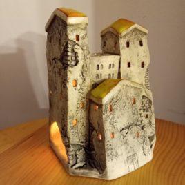 Cztery domki. Kominek zapachowy – domki ceramiczne