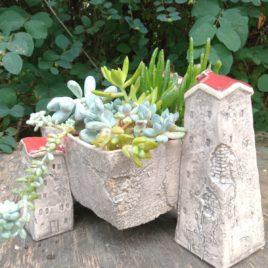Wiszące ogrody – osłonka na sukulenty i kaktusy