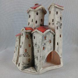Domki ceramiczne na świeczkę